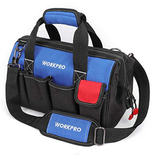 WORKPRO W081021A Tool Storage Bag Close Top Wide Mouth 14-inch by WORKPRO