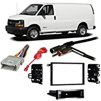Fits Chevy Full Size Van Express 01-02 Double DIN Harness Radio Dash Kit