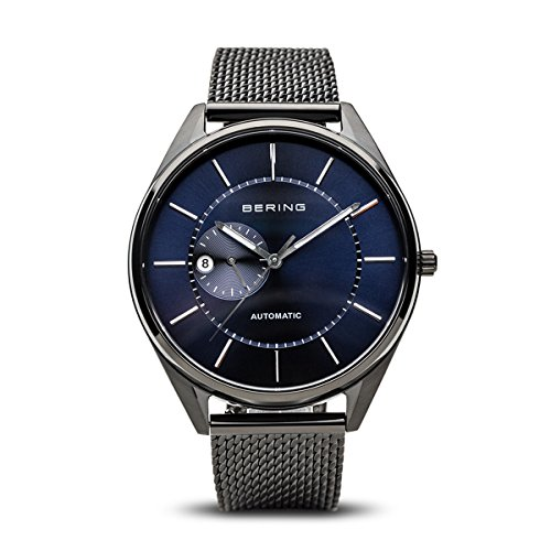BERING Time 16243-227 Men Automatic Collection Watch with Stainless-Steel Strap and scratch resistent sapphire crystal. Designed in Denmark