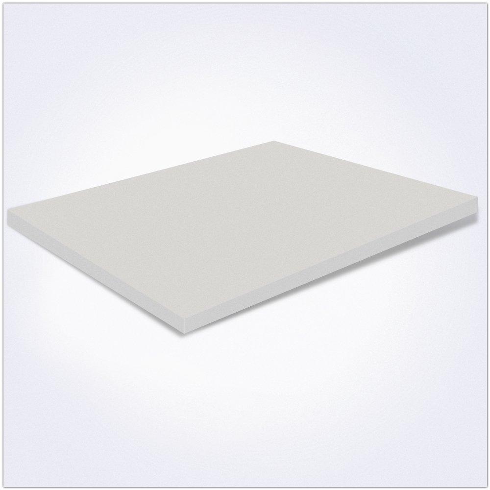Matrimoniale Memory Foam 160x190x5 cm MiaSuite H5 Topper per Materasso con Rivestimento Sfoderabile Bianco