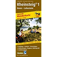 Rheinsteig® 1, Bonn - Lahnstein: Leporello Wanderkarte mit Ausflugszielen, Einkehr- & Freizeittipps, wetterfest, reissfest, abwischbar, GPS-genau. 1:25000 (Leporello Wanderkarte / LEP-WK)