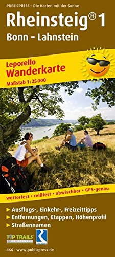 Rheinsteig 1 466 Leporello Hiking Map Gp