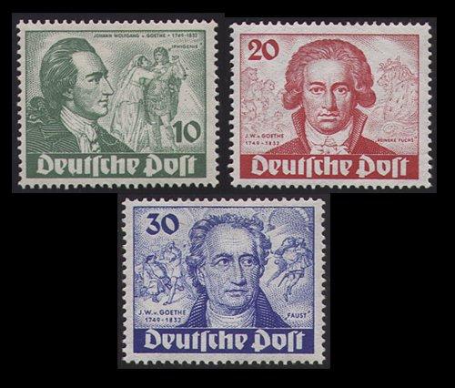 Goldhahn Berlin Goethe Nr. 61-63 ungestempelt Briefmarken Briefmarken Briefmarken für Sammler e01bee