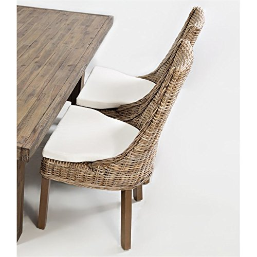"""Jofran: 872-719KD, Hampton Road, Dining Side Chair, 22""""W X 25""""D X 40""""H, Natural Brown Finish, (Set of 2)"""