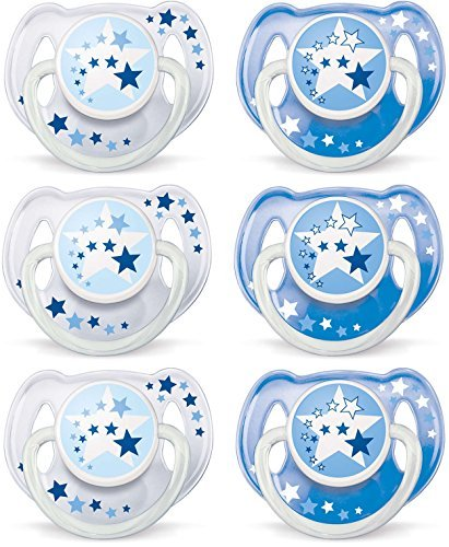- Philips AVENT BPA Free Night Time Pacifier, 6-18 Months, 6 Count