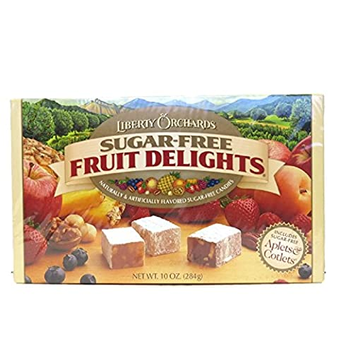Liberty Orchards Sugar Free Fruit Delights 10 oz Box - Diabetic Sugar Free Candy