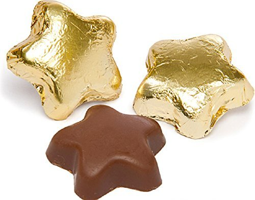 Gold Milk Chocolate Stars (1/2 Lb - Approx 22 Pcs)
