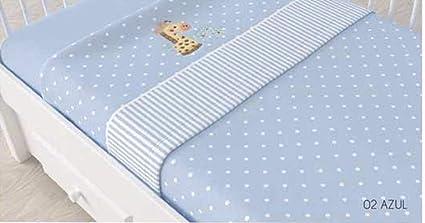 Juego de sábanas de sedalina bordada para cuna - 3 piezas - Mod. GAFFI (