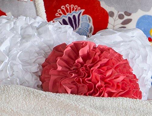 Decorative Hanging Pillow - North End Décor Ruffle Puff Ball Pillow, Rose