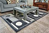 Cosy House Contemporary Area Rugs for Indoors | Plush High Pile Olefin Polypropylene | Resists Stains, Soil & Fading | Power Loomed in Turkey, 5'2'' x 7'2'', Extacy Grey