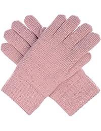 Winter Women's Toasty Warm Plush Fleece Lined Knit Gloves...