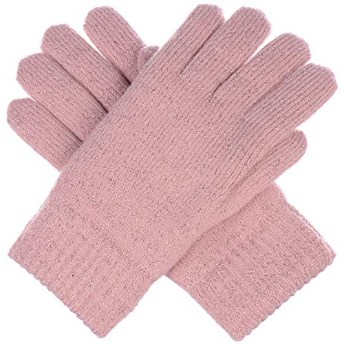 (BYOS Winter Women's Toasty Warm Plush Fleece Lined Knit Gloves in Solid &)