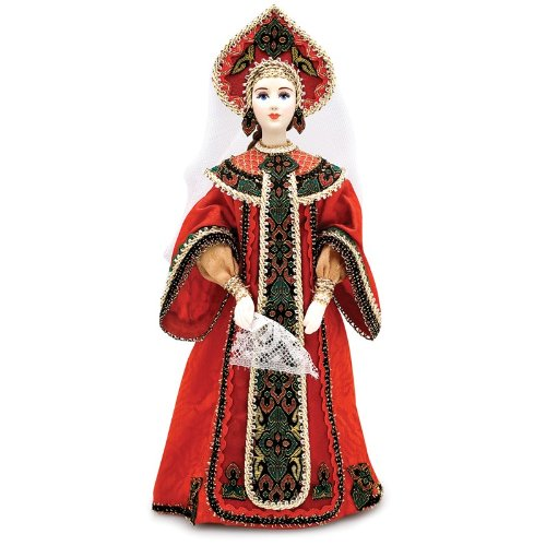 Collectible Porcelain Doll 'Moscow Beauty' (Moscow Traditional Costumes)