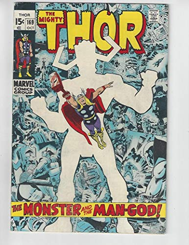 (The Mighty Thor #169/Silver Age Marvel Comic Book/Galactus Origin/FN-VF)