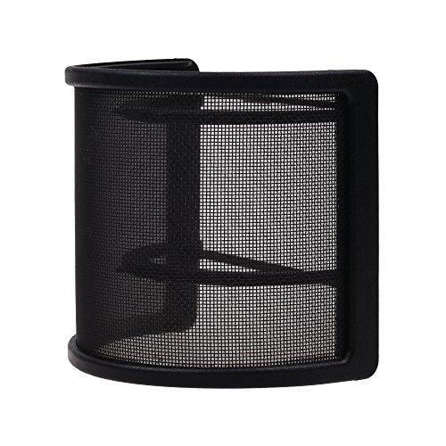 Bcp black color studio microphone mic u shape windscreen