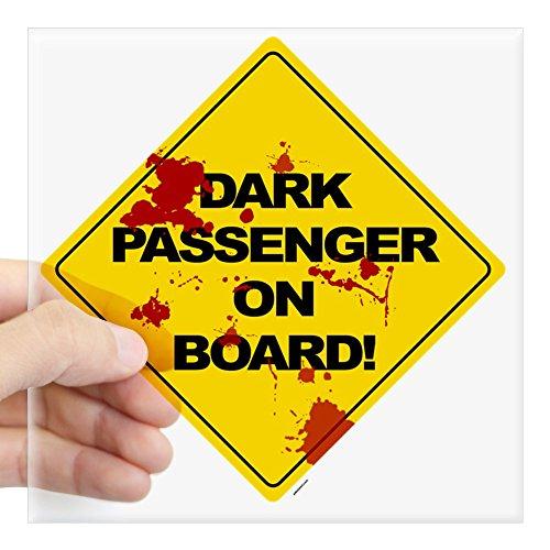 CafePress Dark Passenger On Board B Square Sticker 3 X 3 Square Bumper Sticker Car Decal, 3