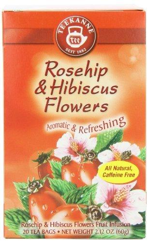 Teekanne Rose (Teekanne Tea, Rose Hip & Hibiscus Flowers, 20 - Teabags, 2.12 Ounce, (Pack of 5) by)