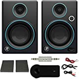 Mackie CR Series CR3 3' Creative Reference Multimedia Monitors (Pair) Blue + Xtreme Bluetooth 2-in-1 Wireless Audio Receiver (Exclusive Color) (Blue Trim)