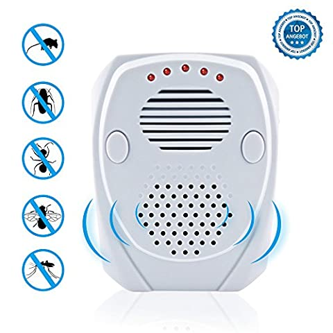 Ultrasonic Pest Repellent - Electronic Plug in - Frequency conversion mode - Pest Control Ultrasonic Repellent Best for Mice,Mosquitoes,Ants,Spiders,Roaches - Indoor & Outdoor(USB) Pest - Pest Barrier