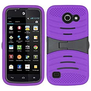 Zizo UCASE Cover with Kickstand and Screen Installed for Huawei Tribute 4G LTE Y536 - Retail Packaging - Purple