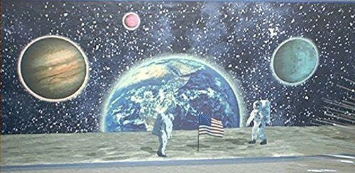 Jubilee Decorative Wallpaper Border: Moon Walk Pattern with Astronauts, Planets and Space by Jubilee