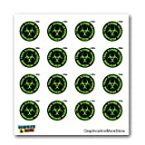Zombie Outbreak Reponse Team Green Black - SET of 16 - Window Bumper Laptop Stickers