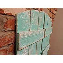 """Rustic Window Shutters (2) 36"""" tall x 10.75"""" wide for Arched Mirror"""
