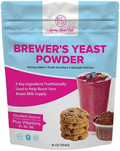 Brewers Yeast Powder for Lactation - Mommy Knows Best Brewer's Yeast for Breastfeeding Mothers - Mild Nutty Flavored Unsweetened and Debittered - 16 ounces