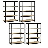 Heavy Duty Garage Shelf Steel Metal Storage 5 Level Adjustable Shelves Unit 72'' H x 48'' W x 24'' Deep (4 Pack)