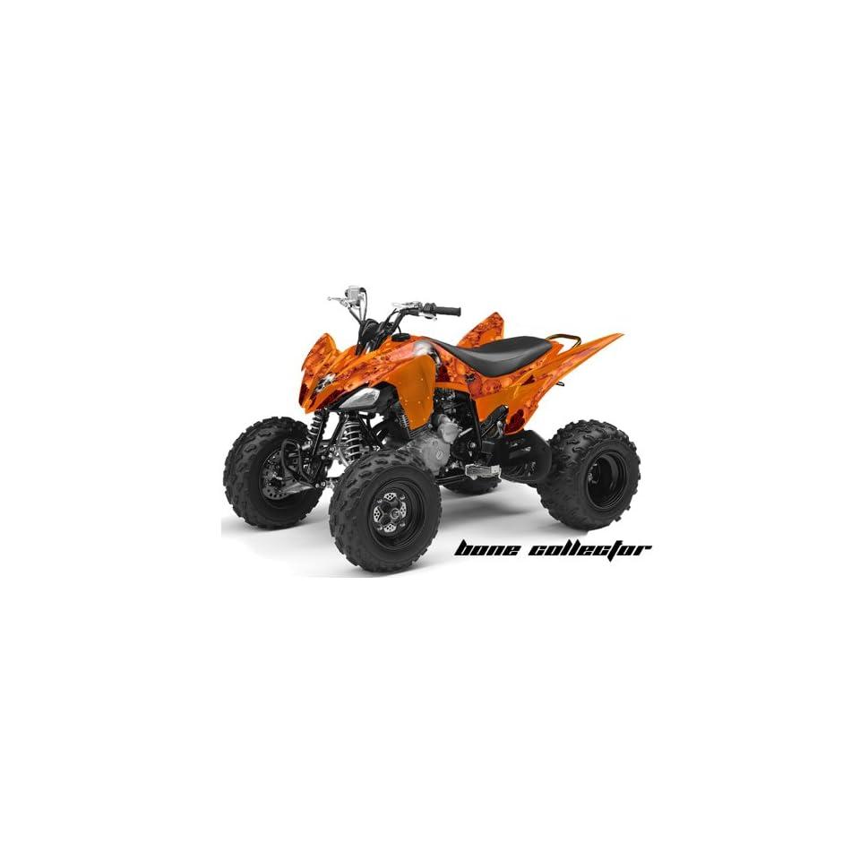 AMR Racing Yamaha Raptor 250 ATV Quad Graphic Kit   Bone Collector Orange