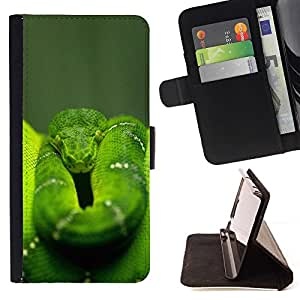 Momo Phone Case / Flip Funda de Cuero Case Cover - Enfriar la selva verde de la serpiente - Huawei Ascend P8 Lite (Not for Normal P8)