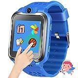 Kids Smartwatch Smart Watch for Kids Game Smart Watch for Kids Girls Watch with Game Kids Smart Watch with Game Wrist Watch Education Toys Boys Girls Gifts (Blue)