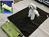 Coofone Pet Dog Bed Portable Outdoor/Indoor Waterproof Snuggle Comfort Blanket Reversible Design Pet Dog Travel Blanket Sleeping Mat In 2 Colors (Green)