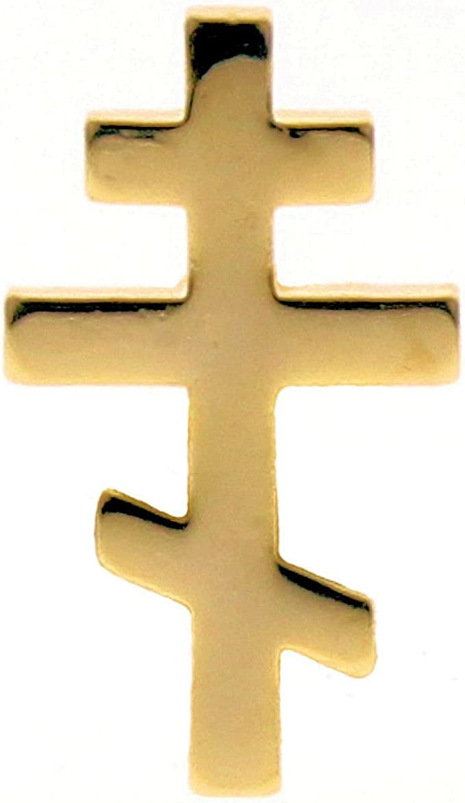 Amazon.com: Orthodox Greek Cross Gold Plated Lapel Pin, Russian Cross (Pkg  of 10) Byzantine cross: Clothing