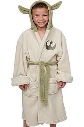 b7d23d1adc Amazon.com  Vcos Star Wars Yoda Jedi Ears Fleece Bathrobe Kids Robe ...
