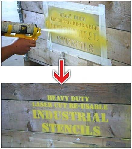 400 x 600mm ARROW Tough Reusable Industrial Stencil