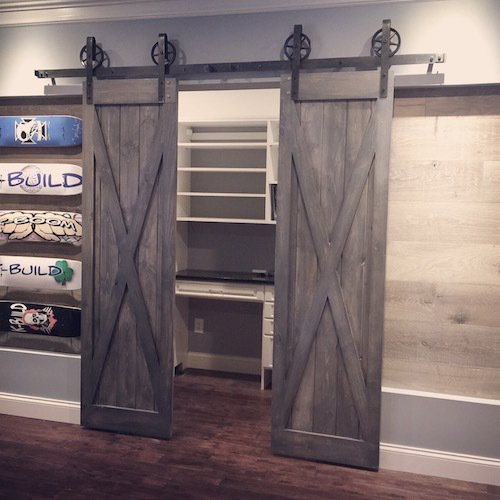 X Design Sliding Barn Door