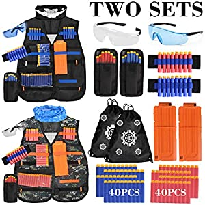 Kids-Tactical-Vest-2Pack-Adjustable-Tactical-Jacket-Vest-Kit