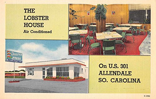 Allendale South Carolina Lobster House Antique Postcard J35257 - South Carolina Antiques
