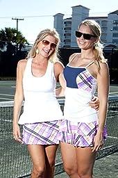 Show No Love Women\'s Racquet Plaid Ruffle Tennis Skirt (size XL)