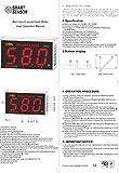 Konnon Sound Level Meter with Large LCD Screen Wall Mounted Digital Sound Level Meter Digital Noisemeter Decibel Monitoring Tester Noise Volume Measuring Instrument 30-130dB Measuring Range
