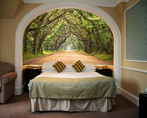 Startonight Mural Wall Art Photo Decor Trees Tunnel Medium 4 Feet 2 Inch By  6 Feet Wall Mural For Living Room Or Bedroom Part 85