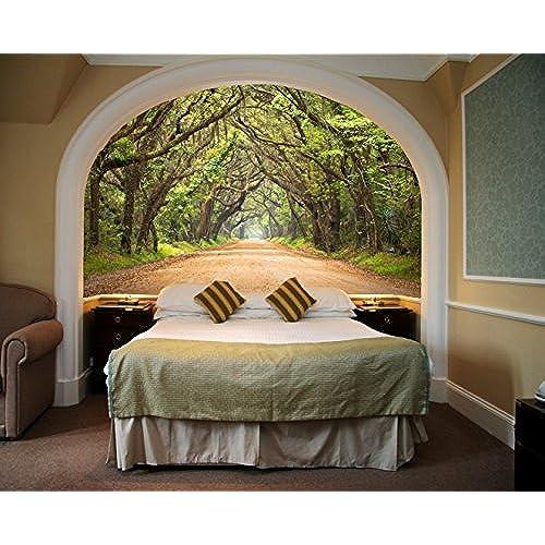 Startonight Mural Wall Art Photo Decor Trees Tunnel Medium 4 Feet 2 Inch By  6 Feet Wall Mural For Living Room Or Bedroom