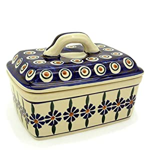 Bunzlauer Butter Box for 250 g Butter Dekor Bunzlauer Blume