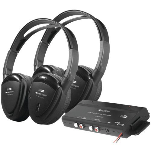 1 - 2 Sets of 2-Channel RF 900MHz Wireless Headphones with Transmitter, 2-channel, 900MHz wireless headphones with swivel ear pads, Up to 100ft operational distance, - 900 Wireless Mhz