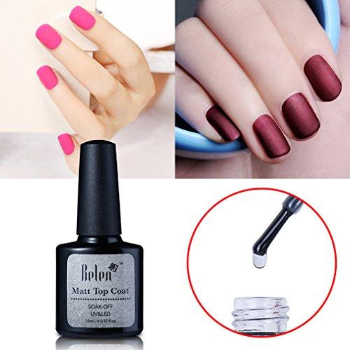 Belen Matte Top Coat Soak Off UV LED Gel Polish Nail Art Matting Sealer Lacquer Manicure 10ml