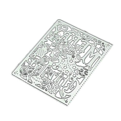 ChoppyWave Merry Christmas Stitched Frame Cutting Die Scrapbooking Decor Embossing Stencil Silver