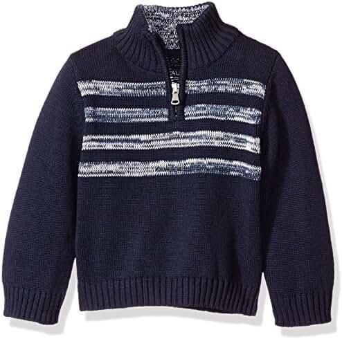 Nautica Baby Boys' Quarter Zip Neck 'Good Harbor' Striped Sweater