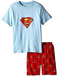 "Big S"" Boys Shorts 2 Piece Pajama Set 100% Cotton Blue,Size 6Mos-14Yrs"