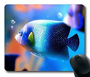 Beautiful Blue Fish Masterpiece Limited Design Oblong Mouse Pad by Cases & Mousepads